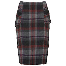 Buy Phase Eight Michelle Tartan Skirt, Grey/Fuchsia Online at johnlewis.com
