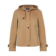 Buy Aquascutum Cotton Hooded Jacket, Green Online at johnlewis.com