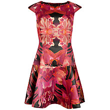 Buy Ted Baker Eekky Jungle Orchid Print Dress, Maroon Online at johnlewis.com