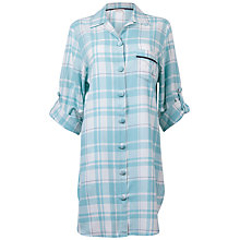 Buy Cyberjammies Meadow Check Nightshirt, Aqua Online at johnlewis.com