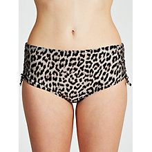 Buy John Lewis Brushed Leopard Print Ruched Bikini Shorts, Multi Online at johnlewis.com