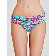 Buy John Lewis Exotic Floral Foldover Bikini Briefs, Turquoise Online at johnlewis.com