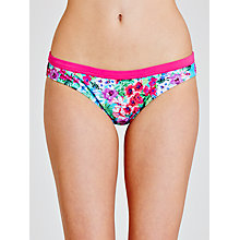 Buy John Lewis Exotic Floral Classic Bikini Briefs, Turquoise Online at johnlewis.com