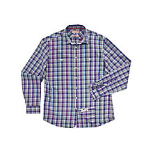 Buy Thomas Pink Auden Check Shirt, Grey/Blue Online at johnlewis.com