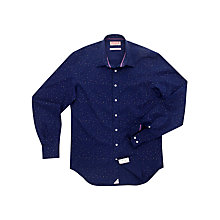 Buy Thomas Pink Kilmer Print Shirt, Navy/White Online at johnlewis.com