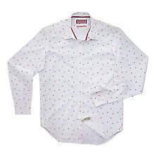Buy Thomas Pink Heaney Print Slim Shirt, White/Red Online at johnlewis.com