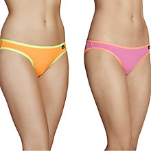 Buy Bonds 2 Pack Hipster Bikini Cut Briefs, Neo Pink / Tangy Online at johnlewis.com