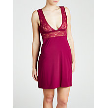 Buy Calvin Klein Delicate Fashion Chemise, Cabernet Grove Online at johnlewis.com