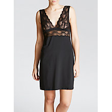 Buy Calvin Klein Delicate Fashion Chemise, Black Online at johnlewis.com
