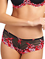 Wacoal Embrace Lace Tanga Briefs, Black / Multi