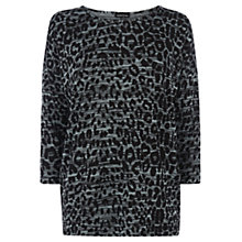 Buy Warehouse Animal Jacquard Top Online at johnlewis.com