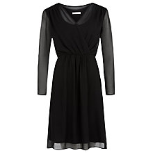 Buy Kaliko Wrap Front Tunic Dress, Black Online at johnlewis.com
