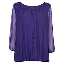 Buy Phase Eight Cassie Button Front Silk Blouse, Amethyst Online at johnlewis.com