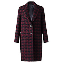 Buy Jigsaw Winter Dogtooth Coat, Navy Online at johnlewis.com