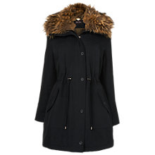 Buy Phase Eight Faye Fur Trim Parka Coat, Navy Online at johnlewis.com
