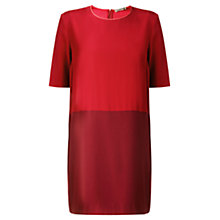 Buy Jigsaw Colour Block Dress, Red Online at johnlewis.com