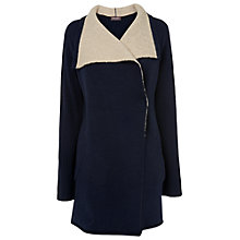 Buy Phase Eight Dee Double Faced Knit Coat, Navy/Stone Online at johnlewis.com