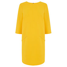 Buy Warehouse Paneled Shift Dress, Yellow Online at johnlewis.com