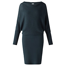 Buy Jigsaw Waffle Stitch Batwing Dress, Pine Online at johnlewis.com