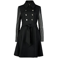 Buy Ted Baker Mutisia Contrast Sleeve Trench Coat, Black Online at johnlewis.com