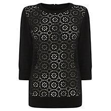 Buy Wishbone Erica Broderie Jumper, Black Online at johnlewis.com