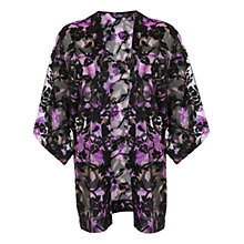 Buy Miss Selfridge Burnout Kimono, Purple/Black Online at johnlewis.com