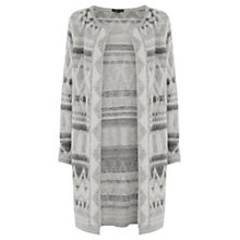 Buy Warehouse Tribal Wrap Cardigan, Light Grey Online at johnlewis.com