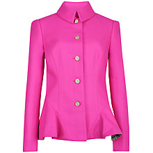 Buy Ted Baker Bracti Peplum Jacket, Mid Pink Online at johnlewis.com