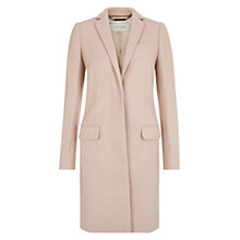Buy Hobbs London Shona Coat, Light Pink Nude Online at johnlewis.com