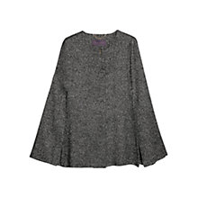 Buy Violeta by Mango Cashmere Wool Blend Cape, Light Pastel Grey Online at johnlewis.com