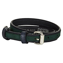 Buy NW3 by Hobbs Brompton Belt, Navy Green Online at johnlewis.com