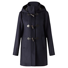 Buy Jigsaw Dogtooth Duffle Coat, Navy Online at johnlewis.com