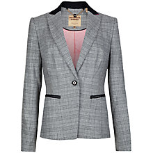 Buy Ted Baker Gorgie Check Jacket, Grey Online at johnlewis.com