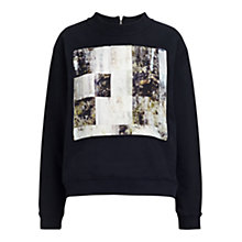 Buy Whistles Olivia Rock Print Sweatshirt, Black Online at johnlewis.com