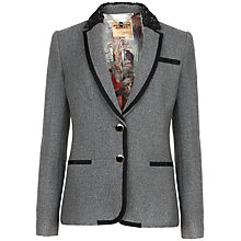 Buy Ted Baker Nariana Prep Style Blazer, Charcoal Online at johnlewis.com