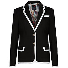 Buy Ted Baker Contrast Trim Detail Blazer, Black Online at johnlewis.com