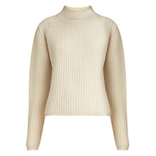 Buy Whistles Rib Knit Jumper, Ivory Online at johnlewis.com
