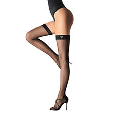 Buy Wolford 20 Denier Audrey Swarovski Elements Hold-Ups, Black Online at johnlewis.com