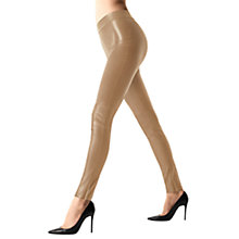 Buy Wolford Estella Leather Look Leggings, Latte Online at johnlewis.com