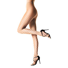 Buy Wolford 15 Denier Leonie Tights, Sahara/White Online at johnlewis.com
