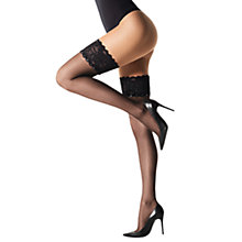Buy Wolford 20 Denier Silk Swarovski Crystal Hold-Ups, Black Online at johnlewis.com