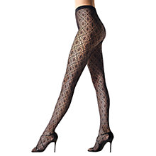 Buy Wolford Daphne Tights, Pack of 1, Black Online at johnlewis.com
