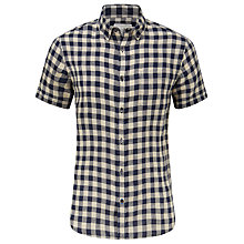Buy John Lewis Gingham Linen Short Sleeve Shirt Online at johnlewis.com