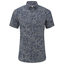 Buy John Lewis Rio Geo Printed Short Sleeve Shirt, Navy Online at johnlewis.com