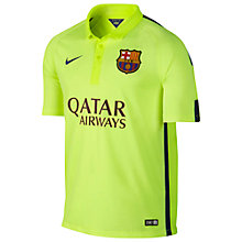 Buy Nike Barcelona Flash Flood Stadium Third Shirt 2014/15, Volt Online at johnlewis.com