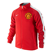 Buy Nike Man United N98 Authentic Boys' Track Jacket, Diablo Red/White Online at johnlewis.com