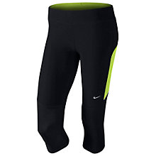 Buy Nike Dri-FIT Filament Running Capris, Black Online at johnlewis.com