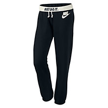 Buy Nike Rally Small Futura Training Trousers, Black/Sail Online at johnlewis.com