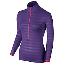 Buy Nike Pro Hyperwarm Fitted Half-Zip Training Top, Court Purple/Hyper Pink Online at johnlewis.com