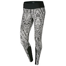 Buy Nike Epic Printed Running Tights, Black/White Online at johnlewis.com